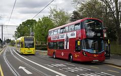 Metrobus WHV71 BF65WJG Route 119 Addiscombe Road (TfLbuses) Tags: red london public buses ahead for volvo go transport double hybrid gemini croydon metrobus tramlink decker tfl wrightbus b5lh
