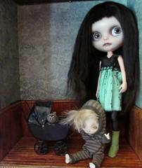 Play Time (SJB Dolls) Tags: baby art monster doll dress ooak haunted creepy blythe custom tikidolldesign