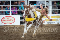Sundre Pro Rodeo 2015 (tallhuskymike) Tags: horse outdoors action event rodeo acrobat cowgirl 2015 sundre prorodeo