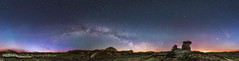 Spring Sky over the Badlands Panorama (Amazing Sky Photography) Tags: sky panorama mars stars spring alberta hoodoo saturn badlands jupiter twan satellites dinosaurprovincialpark 360 lightpollution milkyway ptgui summertriangle unworldheritage amazingsky ipano gigapan perpetualtwilight alandyer