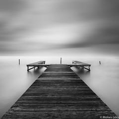 Bipolar (Moises Levy L) Tags: sea two sky blackandwhite pier blackwhite dock long exposure belize bn textures sanpedro moiseslevy sonya7r2