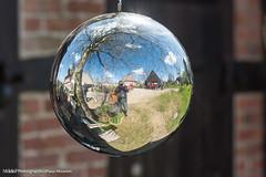 Spiegelung der Welt in einer Silberkugel aufgenommen im Freilichtmuseum Molfsee - Reflection of the world in a silver ball photographed in open-air museum Molfsee (klausmoseleit) Tags: de deutschland jahreszeit orte schleswigholstein frhling reflexionen museen molfsee