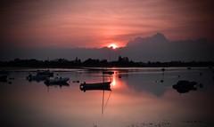 Bosham Sunset (hall1705) Tags: pink sunset silhouette boats bosham spot silhoutte metered d3200