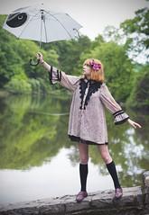 (sarajdsign) Tags: park new york ny fashion japan umbrella model harajuku
