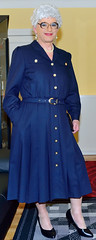 Ingrid022239 (ingrid_bach61) Tags: dress skirt mature button through pleated kleid faltenrock durchgeknpft