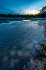Last days of ice (Janne Herva) Tags: ice water night spring pond stacking hdr vesi y j kevt lampi kuvakooste
