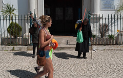 The age factor! (swordscookie back and trying to catch up!) Tags: door old ladies black portugal church square sticks europe shadows legs young lagos bags algarve railings sets beggars