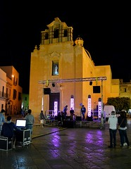 Favignana (Isole Egadi) - piazza Matrice (ikimuled) Tags: favignana egadi notturni amanolibera luceambiente