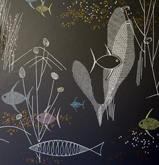 Original Mod Fish Wallpaper at Hepcat Headquarters (hmdavid) Tags: california wallpaper fish home modern mod tour sacramento midcentury hepcat 2016 restorations
