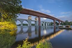 rstabroarna Stockholm (Stefan Sjogren) Tags: bridge lake night river twilight sweden stockholm bridges railway tanto rsta liljeholmen hammarby