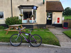 Village Store (Marc Sayce) Tags: tisted south downs national park east hampshire village store shop red post box postbox giant mtb mountain bike atx 840 purple