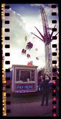 Pay Here (fitzhughfella) Tags: 35mm southampton funfair sprockets ferrania sprocketrocket sprocketography