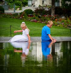 SLC Trip (DigHazuse) Tags: vacation dighazuse canon7d 18135mm onholiday friendsinfocusphotography2016 saltlake saltlakecity utah children water reflection cute quaint