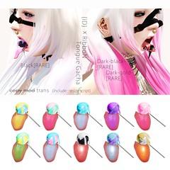 {iD}&RibboN Tongue Gacha!! (Mao Melody) Tags: color tongue candy mesh secondlife ribbon hsh gacha {id}