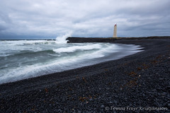 The lighthouse (Tmas Freyr) Tags: ocean sea sky lighthouse seascape water clouds landscape iceland waves wave cliffs soe sjr snfellsnes sk brim snaefellsnes roughsea landslag malarrif lndrangar snaefellsnespeninsula vesturland malarrifsviti snfellsnespeninsula