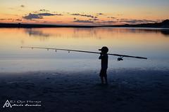The little fischerman (elojohereje) Tags: sunset fishing fisher pescador pescando