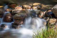 Rock Creek - Spring Flow (www.karltonhuberphotography.com) Tags: california light motion nature grass closeup creek river rocks stream action details peaceful waters isolation waterfeature refreshing cascade invigorating riverrocks clearwater freshwater rockcreek plunge naturephotography easternsierra creekside 2016 therapeutic flowingwater negativeions rejuvenating horizontalimage karltonhuber vignettadded
