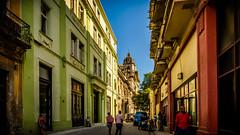 Visto desde la Calle Obispo, Habana Vieja, La Habana (pepoexpress - A few million thanks!) Tags: street sky urban architecture nikon cuba lahabana d600 nikon24120 architecturesky nikond600 pepoexpress nikond60024120mmf4 d60024120 tresdasenlahabana