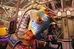 The beautiful Lincoln horse on Coney Island's B&B Carousell. (Kim Lofgren Photography) Tags: nyc carnival horse newyork brooklyn vintage coneyisland ride landmark carousel historic lincoln boardwalk amusementpark americana lunapark 1906 merrygoround 1909 carouselhorse bbcarousell illions