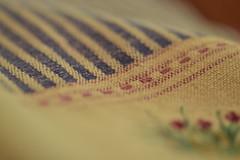 "MacroMonday ""Stripes"" (mckernanmargaret) Tags: macromonday tea towel stripes texture blur"