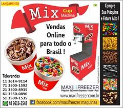 mix-cup-machine-brasil (Maxi Freezer Máquinas de Sorvete e Açaí do Bras) Tags: mix cup mcflurry shakes sorvete sorveteria mixcuperia mundogelado