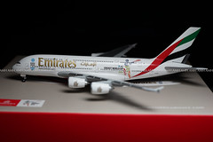 Emirates A380 'ICC Cricket Worldcup 2015' Herpa 1/500 (altinomh) Tags: airplane wings model aircraft emirates 1500 herpa a6edz