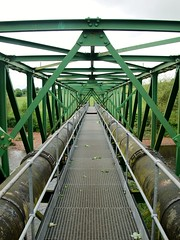 Carbarns Pipe-Bridge. (alanGmedia) Tags: bridge scotland clyde moire