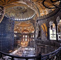 Ayasofya......Hagia Sophia Museum (acipinarli) Tags: panorama building church museum architecture turkey istanbul mosque historic hagiasophia hagia ayasofya ayasofia santasofia