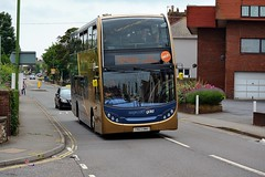 Stagecoach South West Gold Dennis Enviro 400 (15925) (MancPhotographer2014) Tags: street city uk england southwest west bus english buses station gold riviera south centre plymouth devon journey 400 vehicle dennis torquay luxury stagecoach approaching paignton enviro the totnes