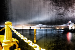 San Francisco Nights (Blende57) Tags: sanfrancisco california longexposure bridge west reflection water night lights coast nightscape wideangle oaklandbaybridge embarcardero bridgelights