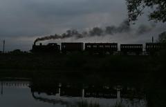 Silhouette steam (Andrew Edkins) Tags: england water silhouette canon reflections dark derbyshire victorian reservoir tankengine preservedrailway butterley midlandrailwaycentre metone photocharter