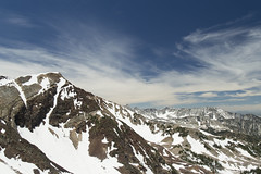 Top of the World - Wasatch Mountains [Explore] (aaronrhawkins) Tags: summit mountains bluesky snowbird tram peak summer sunlight snow vista clear beautiful nature trees mountaintop horizon utah