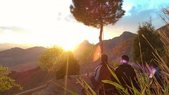 Sunset (mahyarkahkesh) Tags: sunset sun montain orange rest casual tree soffe sitting chat warm