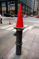 Do Not Move (nyperson) Tags: trafficcone hydrant street newyorkcity