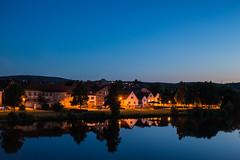 Main/Bayern (schulze31) Tags: abend wasser nacht main stadt spiegelung langzeitbelichtung flus