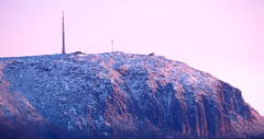 Snow Glow (elliott.lani) Tags: pink mountain nature mount tasmania hobart pinksky lani allrightsreserved naturephotography mountwellington kunanyi elliottlani lanielliott