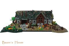 Beorns House (-Balbo-) Tags: bear house lego lord rings pony gandalf lordoftherings hobbit der herr bauwerk bilbo desolation thorin ringe smaug moc beorn mirkwood beorns