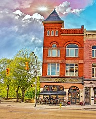Stratford Ontario ~ Canada ~ Taverna PAZZO Pizzeria ~ Heritage Building (Onasill ~ Bill Badzo) Tags: stratford on ontario canada perthcounty shakespeare festival tourist travel bus tour heritage building architecture italy british play taverna pazzo pizzeria onasill nrhp historic day trip town small park water fountain canon sl1 sigma 18250mm macro