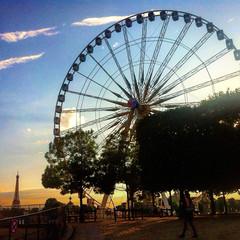 #paris #euro2016 (tugasgm) Tags: sunset paris tower wheel photo euro eiffel fortune concorde