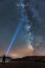 www.ksbofotografia.com (Ksbo Fotografa) Tags: road light night way stars noche nikon via estrellas nocturna lantern milky lightpaint longexp lactea d810