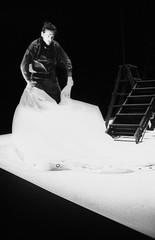 Noi non siamo barbari! (Wir sind keine Barbaren!) (Federico Pitto) Tags: bw theatre trix hp5 pushprocess ilforddelta3200 nikonfe2 nikkor50mm14 microphen nikkor35mm28 teatrostabilegenova