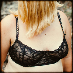 Secret Lace (Au_Naturale_Light) Tags: erotic erotica eroticism underwear sexy bra breasts black blond blonde woman girl female outdoor nude sex sexuality vsco vscofilm art fineart tits boobs body skin public