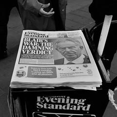 The Damning Verdict (stevedexteruk) Tags: tony blair iraq war chilcot report inquiry newspaper evening standard london uk 2016 oxfordcircus regentstreet street city westminster