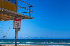 Danger No Swimming (k009034) Tags: 500px australia beach building copy space flag gold coast life saver metal nature no people ocean oceania pole queensland sea sign sky tranquil scene travel destinations water waves teamcanon