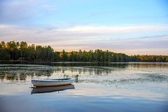Tanzer (wplynn) Tags: county sunset lake wisconsin sailboat chain tanner fourth northwoods moen oneida anchored rhinelander
