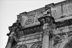Arch of Constantine (AnniversaryRoad) Tags: 135 35mm 50mm ancientrome archofconstantine bw delta europe ilford italy leica leicam6 m6 roma roman rome summicron analog architecture black blackandwhite column film marble monochrome outdoor outside sky white