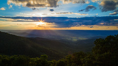 Rays of the sun (John Getchel Photography) Tags: trees clouds nationalpark valley shenandoah sunrays sunflare