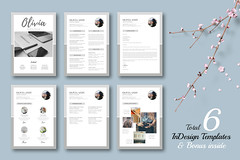 Olivia - Multipurpose INDD Pack + BONUS (Typography Prime) Tags: summer fashion studio typography photography corporate minimal business pack adobe letter projects portfolio bundle proposal a4 brochure template cv reference resume indesign coverletter lookbook estimate