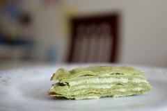 DSCF3388 (Jolene Jiang) Tags: summer ny cake dessert baking homemade crepe sweets fujifilm matcha greentea amateur creampuff millecrepe x100s