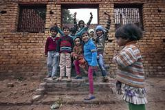 (Kals Pics) Tags: kids group girls boys friends brothers sisters agra uttarpradesh home house pov perspective door windows cwc chennaiweelendclickers roi rootsofindia life travel people bricks texture steps kalspics
